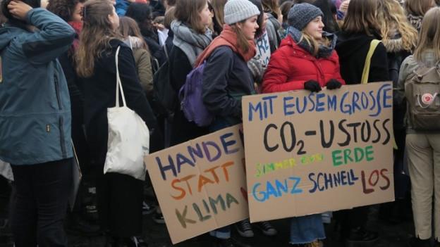 Klimademo der Schüler