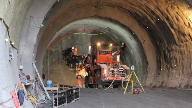 Der Durchschlag des Tunnels Burg konnte am Mittwoch gefeiert werden.
