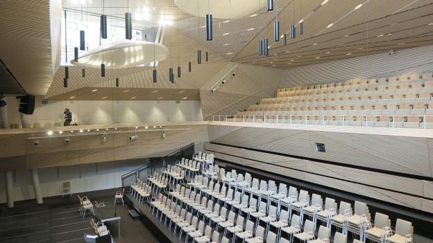 Der neue Konzertsaal in Andermatt.