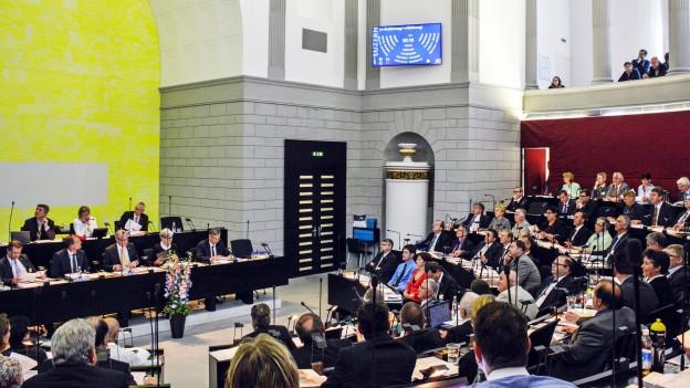 Der Luzerner Kantonsratssaal: Heute startet der Ratsbetrieb in der neuen Zusammensetzung.