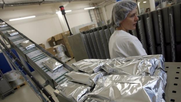 Produktion von Milchpulver beim Milchverarbeiter Hochdorf