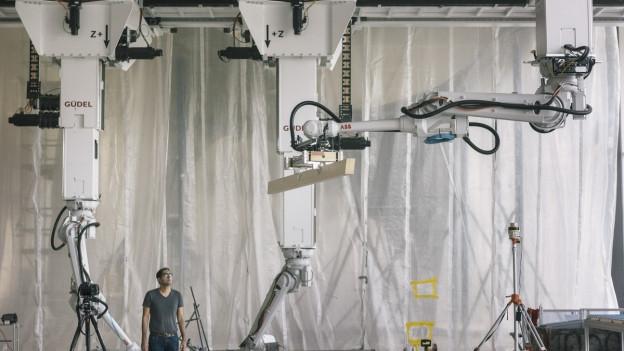 An der ETH in Zürich werden Roboter für die Architektur schon getestet.