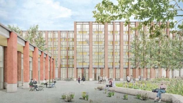 Visualisierung Neubau Kantonsschule Pfäffikon