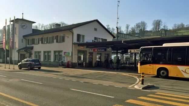 Bahnhof Wolhusen: Die Umgebung soll für 15 Millionen neu gestaltet werden.