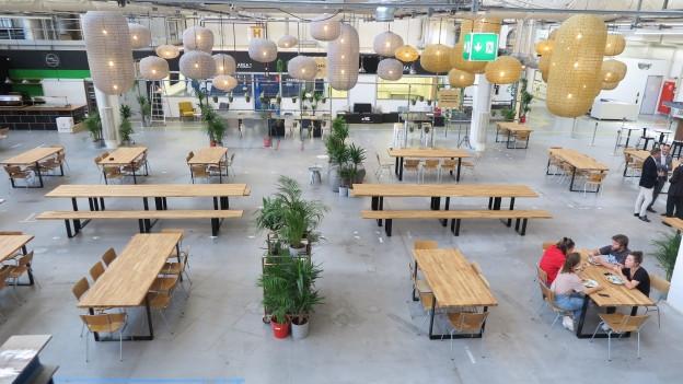 Der Restaurantbereich ist das Herzstück des «Freiruum».