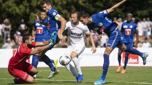 Der FCL im Spiel gegen Kreuzlingen.