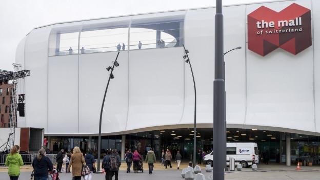 Eingang Einkaufszentrum