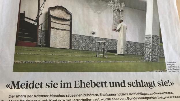 Wegen möglichen Gewaltaufrufen in einer Krienser Moschee wird ermittelt.