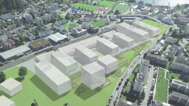 Der Campus Horw gehört zu den grössten BauproDer Campus Horw gehört zu den grössten Bauprojekten des Kantons Luzern.jekten des Kantons Luzern.