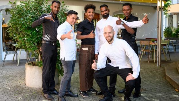 ein multikulturelles Gastroteam