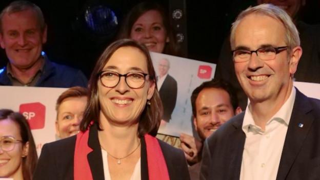 Aufnahme der Luzerner SP-Stadtratskandidierenden Judith Dörflinger und Beat Züsli.