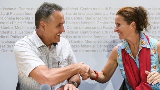 Yvette Estermann und Martin Frischknecht