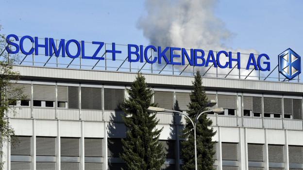 Ein Gebäude des Stahlherstellers Schmolz + Bickenbach in Emmen.