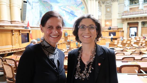 Monika Rüegger (links) und Manuela Weichelt haben Historisches geschafft