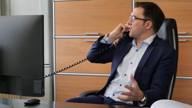 Der neue Direktor der Industrie- und Handelskammer, Adrian Derungs.