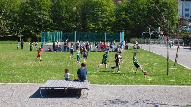 Der Schmiedhofpark in der Gemeinde Ebikon.
