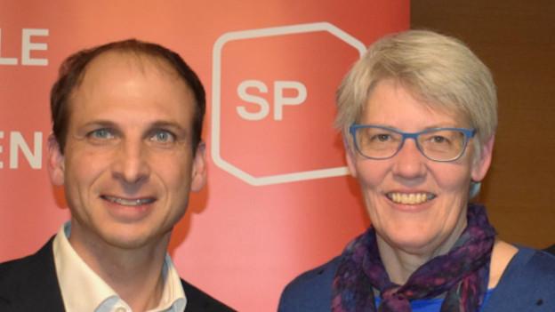 Die Kandidaten Michael Fuchs und Elsbeth Anderegg