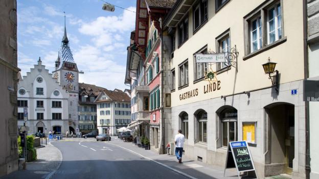 Stadt Zug mit Restaurant
