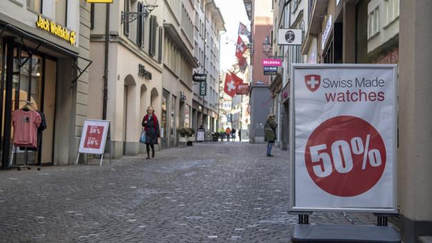In der Luzerner Altstadt sind nur wenige kleine Läden zu finden.