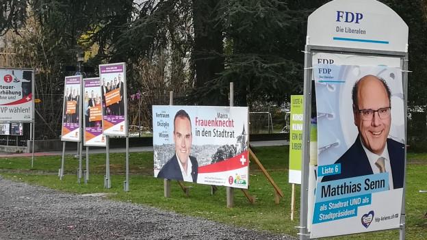 Wahlplakate in Kriens