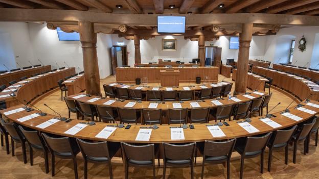Blick in den Kantonsratssaal in Schwyz