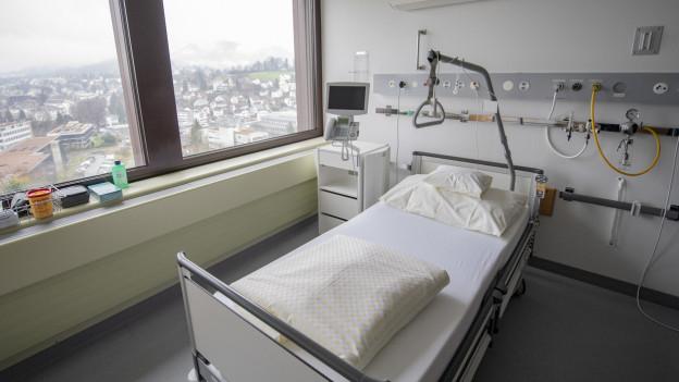 Ein Spitalbett