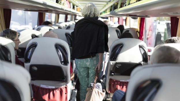 Blick ins Innere eines Reisecars