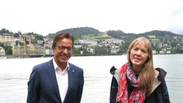 Josef und Rita Wyss stehen beide einem Parlament vor - doch politisch sind die Geschwister nicht auf der gleichen Linie.