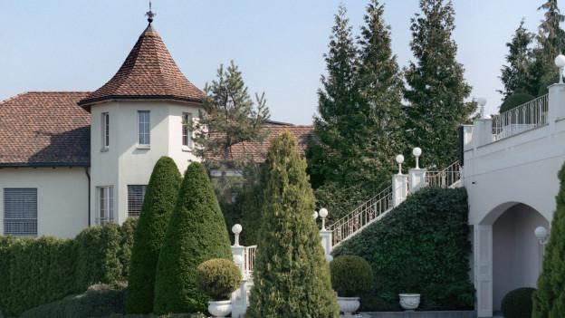 Blick in ein Villenquartier in Wollerau - entlastet würden vorab hohe Einkommen.