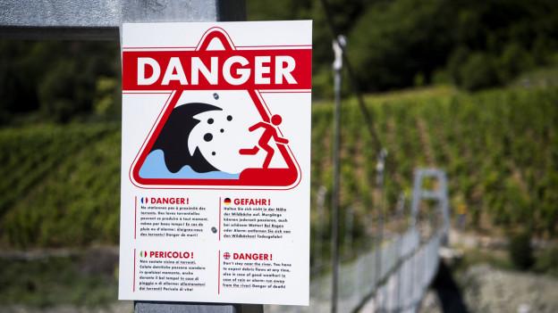 Warnschild vor Murgängen