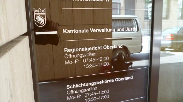 Die Verhandlung fand vor dem Regionalgericht Oberland in Thun statt.