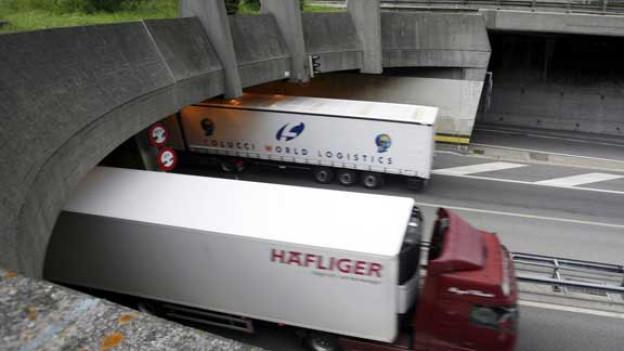 Bundesrat will zweite Röhre: Portal des Gotthard-Strassentunnels.