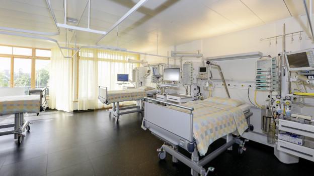 Zimmer im neuen Herzzentrum am Unispital Zürich.