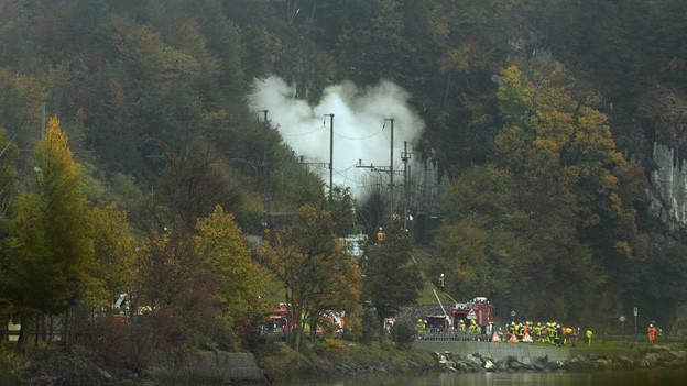 Die Unglücksstelle in Obwalden - am Mittwochnachmittag nach dem Absturz des Jets