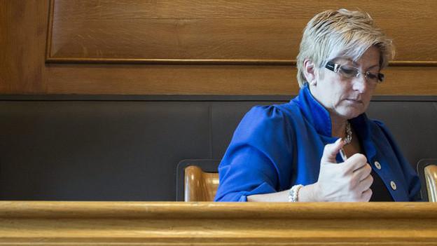Beatrice Simon: die Berner Finanzdirektorin brachte fast alle Sparvorschläge durch