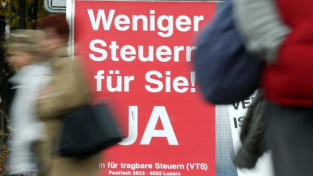 Höhere Steuern für Luzernerinnen und Luzerner.
