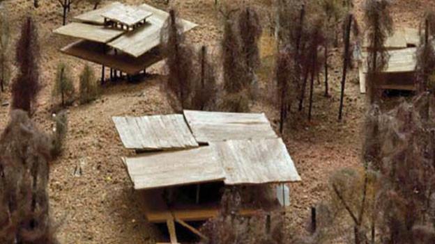 Eine Art Pfahlbauersiedlung: Das nun gestoppte Projekt für ein Novartis-Ausbildungszentrum