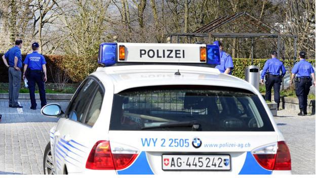 Die Aargauer Polizei bei einem Ernstfalleinsatz.