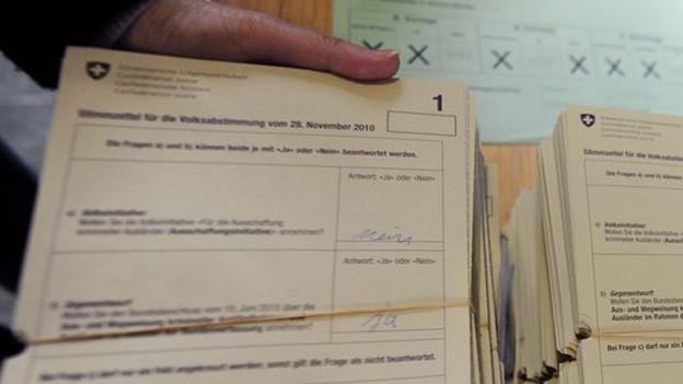 «JA» und «NEIN» braucht's in der Stadt Bern schon bald nicht mehr - neu machen die Stimmberechtigten Kreuze