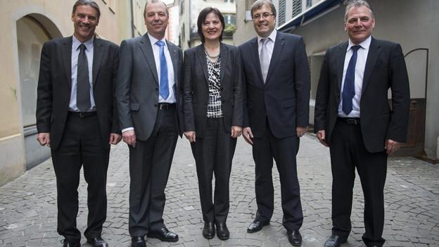 Der komplette Walliser Staatsrat versuchte die Vorwürfe zu entkräften.