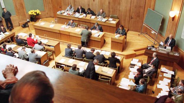 Blick in den Walliser Kantonsratssaal