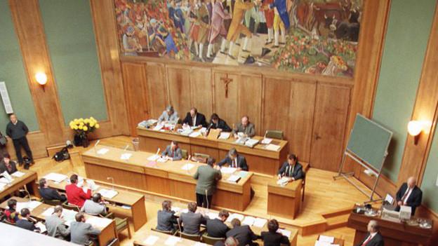 Das Walliser Kantonsparlament tagt.