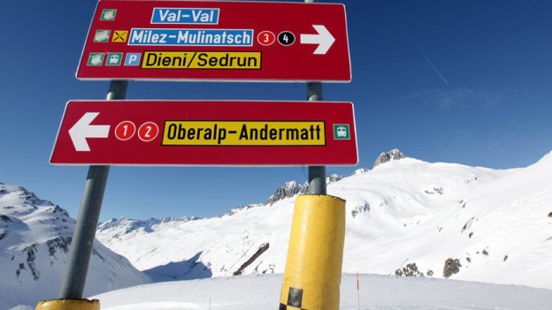 Das Bundesamt für Verkehr sagt, die Skigebiete von Andermatt/UR und Sedrun/GR dürfen miteinander verbunden werden.