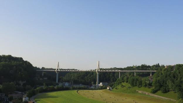 Hat laut PUK eine chaotische Bauzeit hinter sich: Die Poya-Brücke in Freiburg.