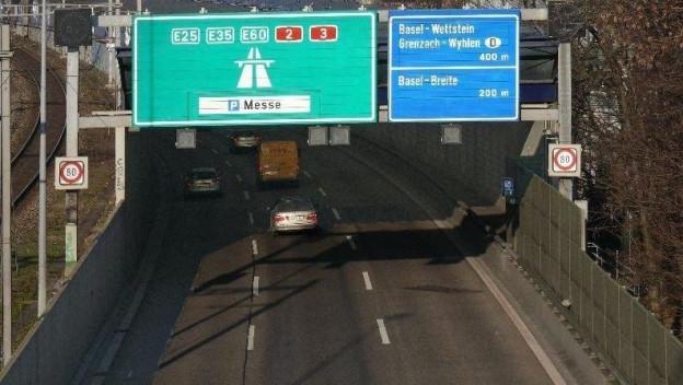 Häufig überlastet: Das Basler Autobahnstück «Osttangente».