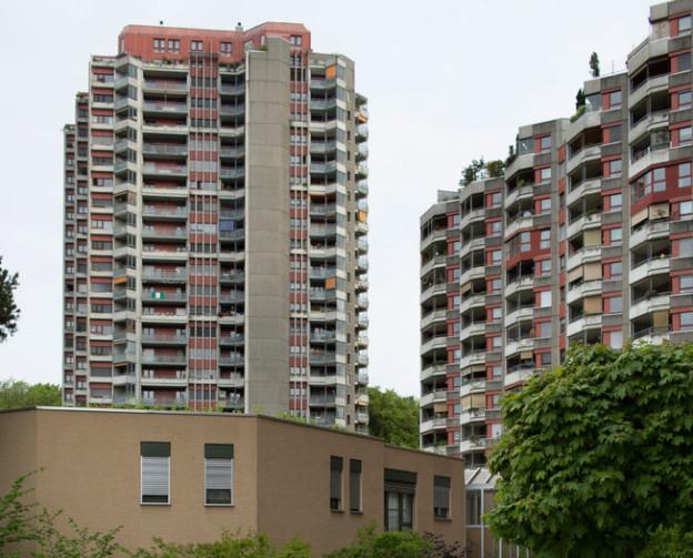 Ein Wohnblock in Bern-Bümpliz