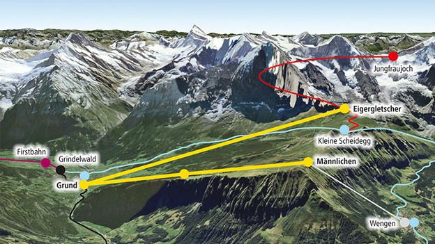 Kein Bauernland für das Bahnprojekt nach Eigergletscher.