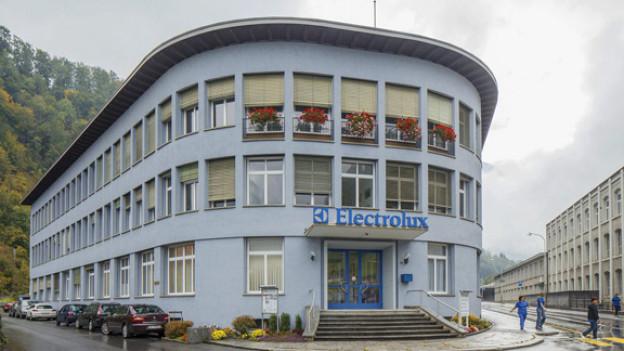 Die Firma Electrolux schliesst ihre Fabrik in Schwanden/GL.