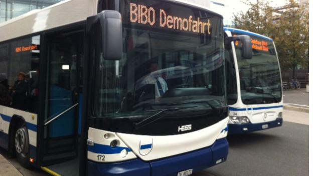 Ein Bus der Zugerland Verkehrsbetriebe.