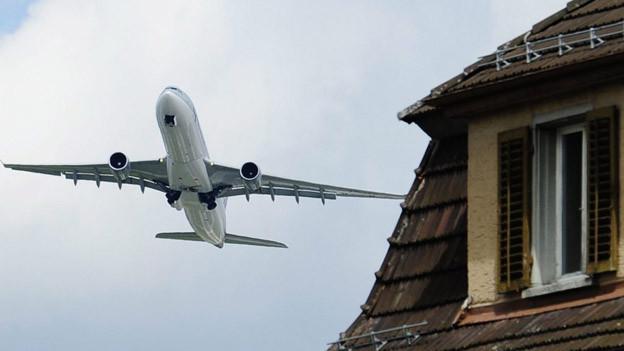 57'000 Menschen sind stark von Fluglärm geplagt.